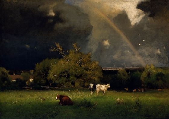 Inness, George: The Rainbow. Fine Art Print/Poster (4123)